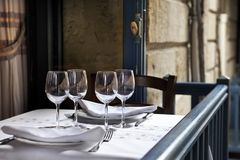 In a French bistro Royalty Free Stock Photography