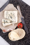French blue cheese and bread roll Stock Image