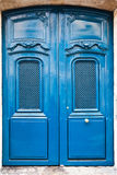 French blue wooden door Stock Photo