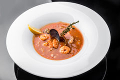 French Bouillabaisse fish soup with seafood Royalty Free Stock Photography