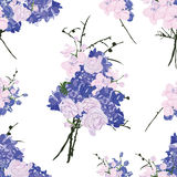 French bouquet purple seamless vector pattern Stock Photos