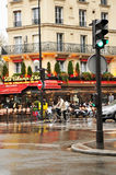 French brasserie. In the vicinity of Eiffel Tower, Paris Stock Image