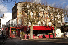 French Brasserie. And terrace in Viroflay in the west suburb of Paris Stock Photo