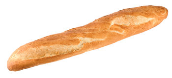French bread. Isolated on a white background Stock Image