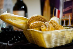 French bread. Stall with assortment of French bread Royalty Free Stock Image