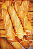 French bread. Closeup of some French baguette bread royalty free stock images