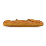 French bread baguette on a white 3D Illustration Royalty Free Stock Photography