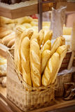 French bread. Closeup of some French baguette bread Stock Photography
