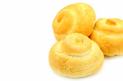 French bread group. Bread collection on white background Royalty Free Stock Image