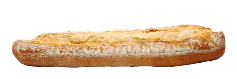 French bread isolated over white Stock Photo