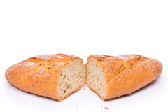 French bread isolated Stock Images
