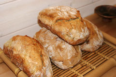 French bread just made. French bread which looks delicious Stock Images