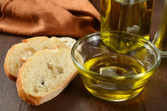 French bread and olive oil Stock Image
