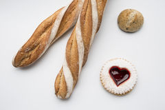 French bread and other confections Stock Photography