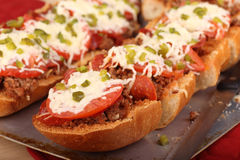 French Bread Pizza Royalty Free Stock Photos