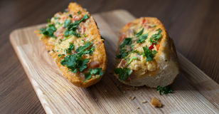 French Bread Pizza. Sandwich. Selective focus. Royalty Free Stock Photos