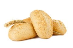 French Bread Rolls Isolated Stock Photos
