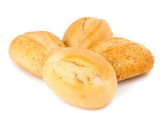French bread rolls isolated Stock Photo