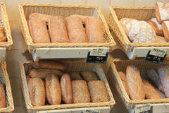 French bread in a shop Stock Photo