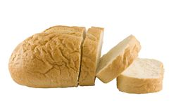 French Bread Sliced Stock Photography