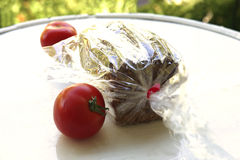 French bread and tomato Stock Image