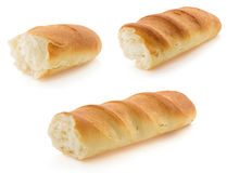 French bread on white Stock Image