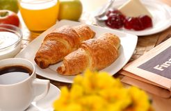 French breakfast. With pastry and coffe Stock Photography