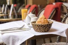 French breakfast at bistro Stock Image