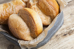 French breakfast buns bread roll and croissant Stock Photography
