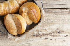 French breakfast buns bread roll and croissant Royalty Free Stock Photography