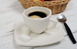 French breakfast with coffee and pastries Royalty Free Stock Image