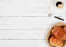 French breakfast with coffee and pastries Royalty Free Stock Photos