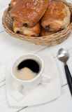French breakfast with coffee and pastries Royalty Free Stock Images