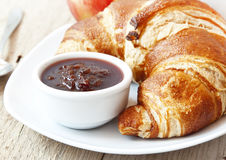 French Breakfast with Croissants Royalty Free Stock Images