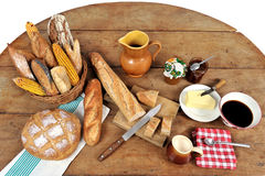 French Breakfast Five Stock Image