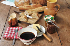 French breakfast four Royalty Free Stock Image