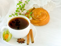 The French breakfast on lacy napkins Royalty Free Stock Photos