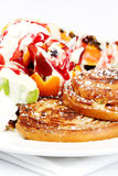 French brioche with fresh fruit Royalty Free Stock Photography
