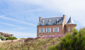 French Brittany typical house Royalty Free Stock Images