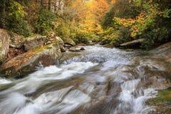 French Broad River Autumn North Carolina Stream Stock Image