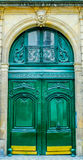 French Building Entrance Beautiful Wood Door In Paris Stock Photo