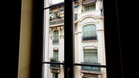 French building facade, beautiful architecture, luxury hotel, real estate rent royalty free stock images