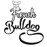 French Bulldog Logo with cute Dog Royalty Free Stock Images