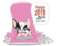 F bulldog greeting card Stock Photos