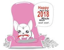 F bulldog greeting card Stock Photo