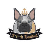 French bulldog sign Royalty Free Stock Photos