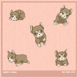 French bulldog. Vector illustration French bulldog puppy cartoon Royalty Free Stock Images