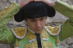 The french bullfighter Sebastian Castella is the montera before you start to fight Royalty Free Stock Image