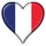 French button flag heart Stock Photos