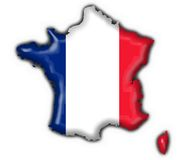 French button flag map Royalty Free Stock Photo